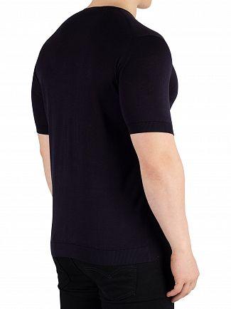 John Smedley Navy Belden T-Shirt