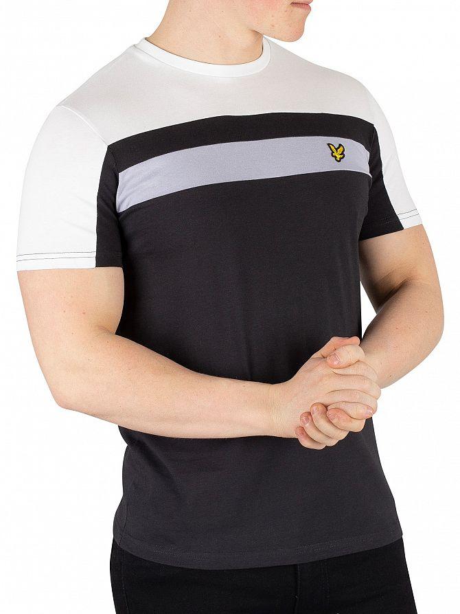 Lyle & Scott True Black Colour Block T-Shirt