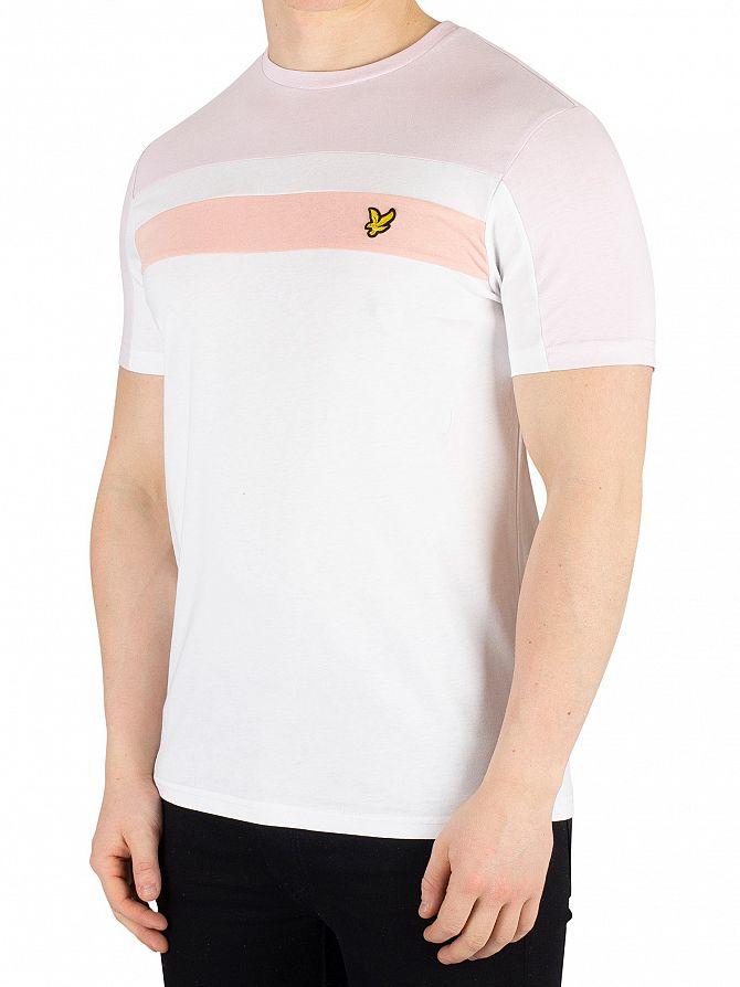 Lyle & Scott White Colour Block T-Shirt