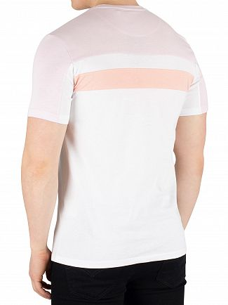 Lyle & Scott White Colour Block T-Shirt