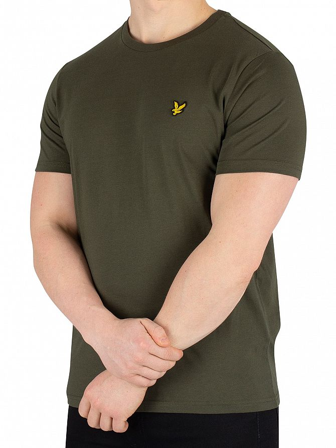 Lyle & Scott Dark Sage Crew Neck T-Shirt
