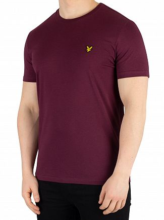 Lyle & Scott Burgundy Crew Neck T-Shirt