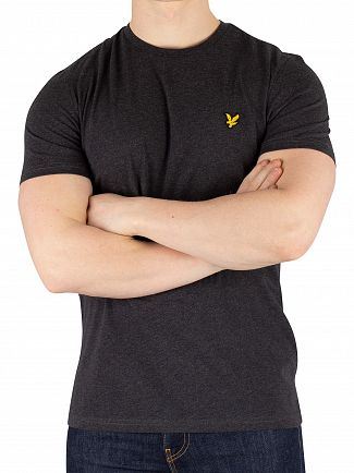 Lyle & Scott Charcoal Marl Crew Neck T-Shirt