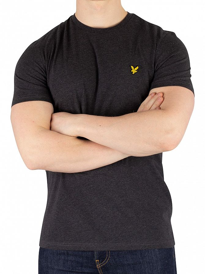 Lyle & Scott Charcoal Marl Crew Neck T-Shirt