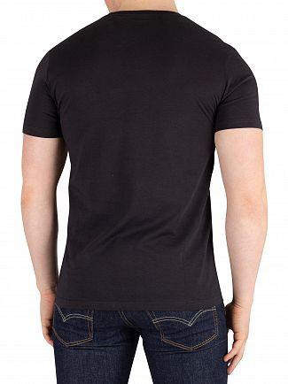 Lyle & Scott True Black Flock Logo T-Shirt