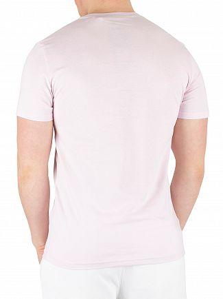 Lyle & Scott Dusky Lilac Flock Logo T-Shirt