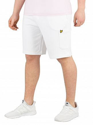 Lyle & Scott White Pocket Sweat Shorts