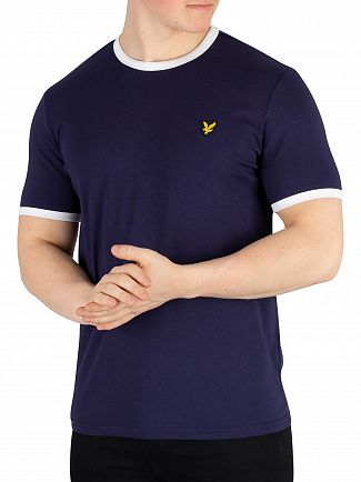 Lyle & Scott Navy Ringer T-Shirt