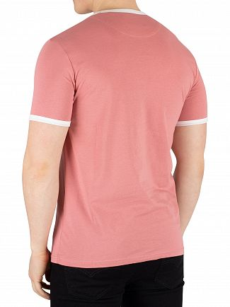 Lyle & Scott Pink Shadow / Snow White Ringer T-Shirt