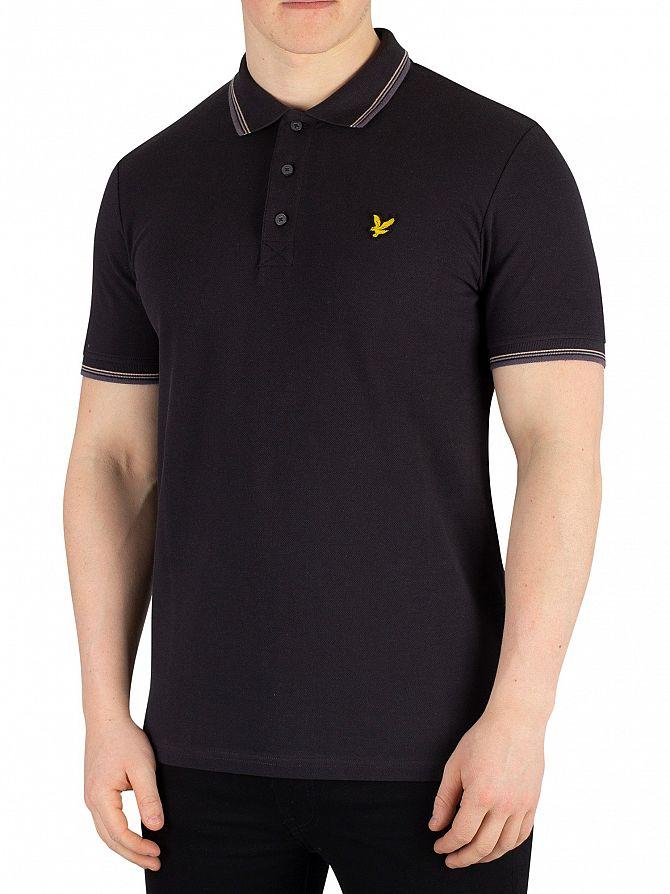 Lyle & Scott True Black Tipped Poloshirt