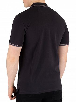 Lyle & Scott True Black Tipped Poloshirt