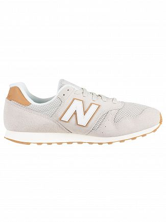 New Balance Beige/Tan 373 Suede Trainers