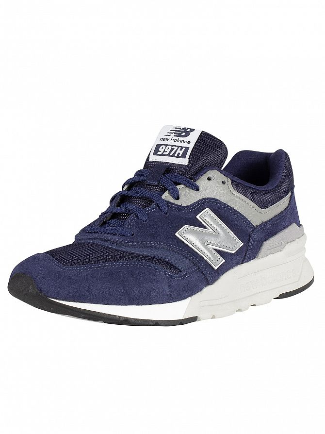 New Balance Blue/Silver 997H Suede Trainers
