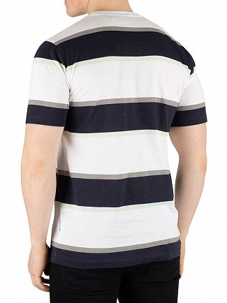Nicce London White/Deep Navy/Mint Colum T-Shirt