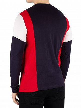 Nicce London Red/Deep Navy Homewood Longsleeved T-Shirt