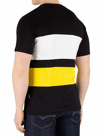 Nicce London Black/Vibrant Yellow Masli T-Shirt
