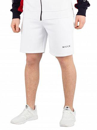 Nicce London White Original Logo Sweatshorts