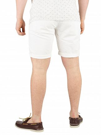 Scotch & Soda Denim White Chino Shorts