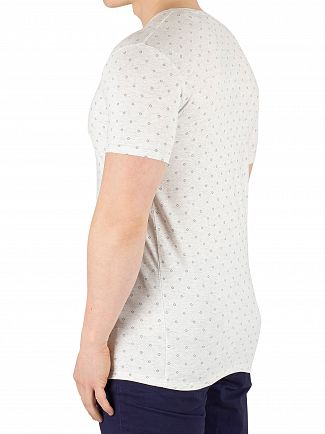 Scotch & Soda White Crew Neck Diamond T-Shirt