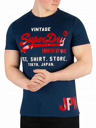 Superdry Teal Grit Shirt Shop Duo T-Shirt