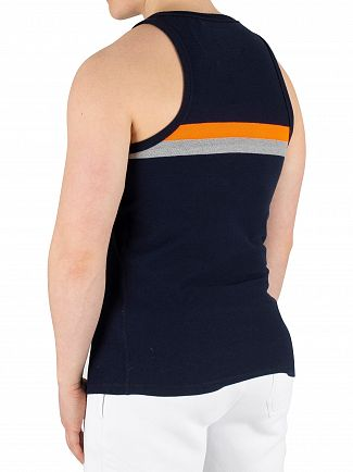Superdry Eclipse Navy Tri Colour Vest