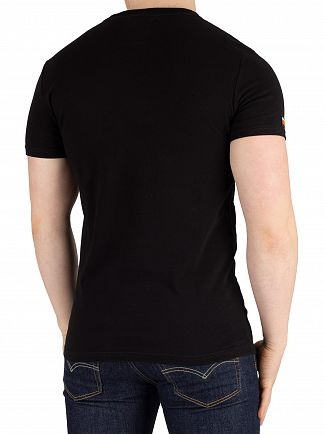 Superdry Black Vintage Logo Monochrome T-Shirt