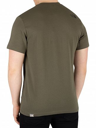 The North Face New Taupe Green Fine T-Shirt