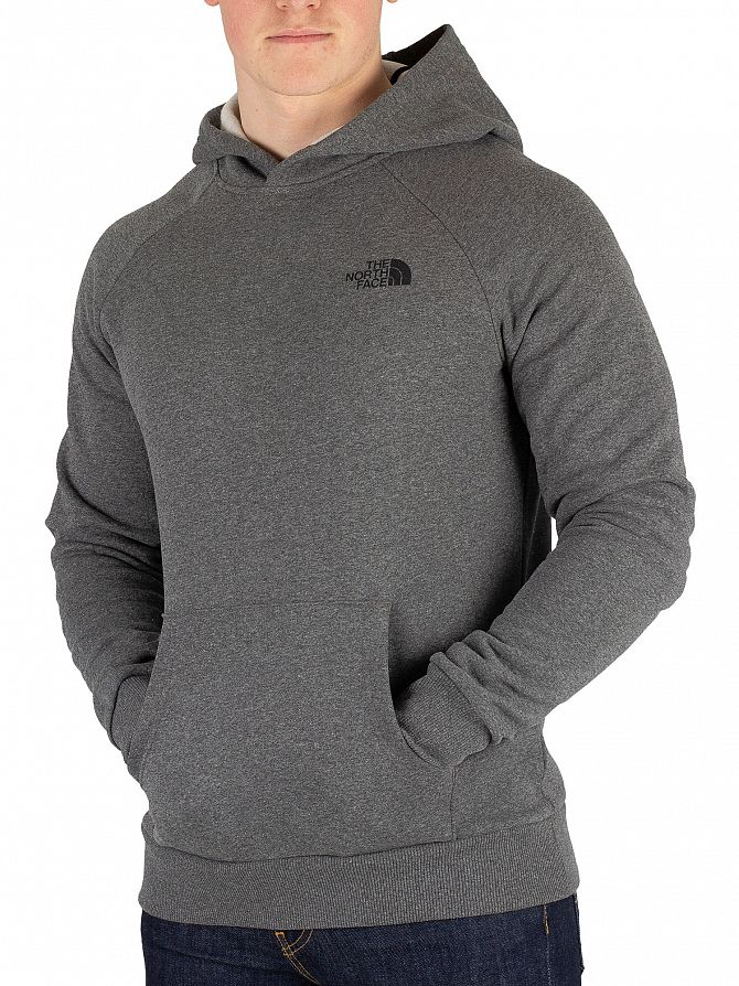 The North Face Medium Grey Heather Raglan Redbox Pullover Hoodie