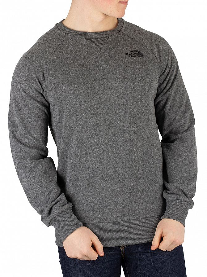 The North Face Medium Grey Heather Raglan Side Sweatshirt