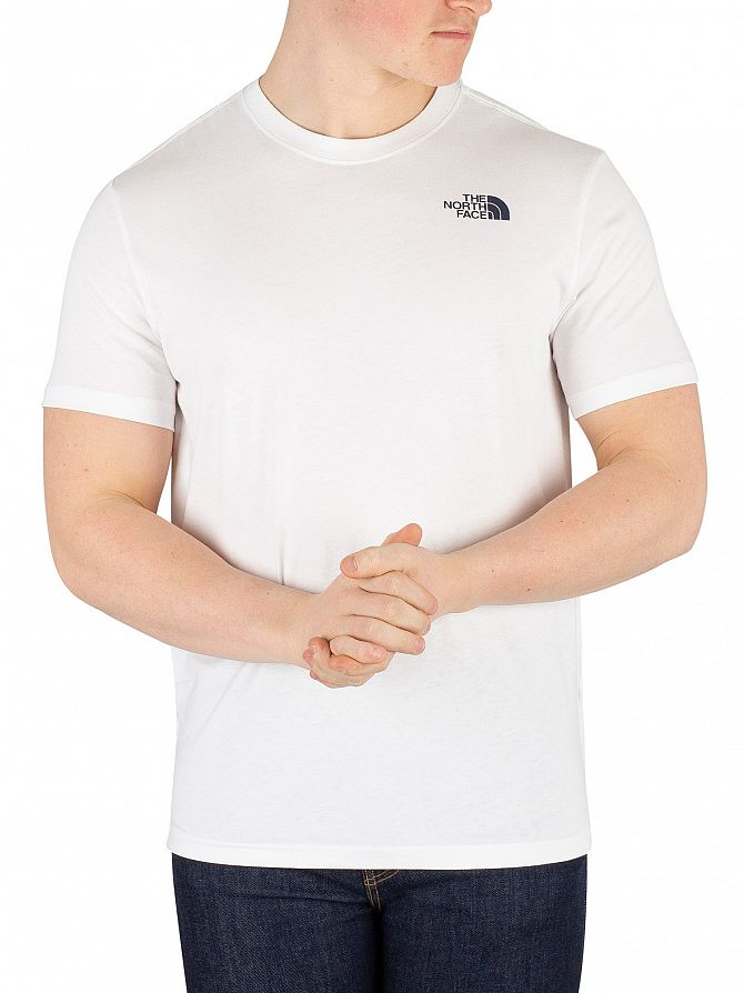 The North Face White/Urban Navy Redbox T-Shirt