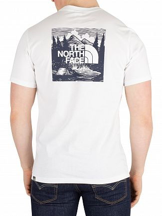 The North Face White/Urban Navy Redbox T-Shirt
