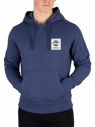 Timberland Blue Logo Pullover Hoodie
