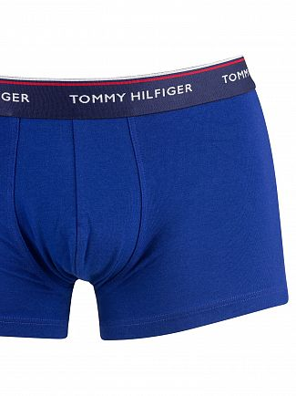 Tommy Hilfiger Insignia/Tango Red/Sodalite Blue 3 Pack Premium Essentials Trunks