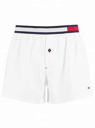 Tommy Hilfiger White Colour Block Woven Trunks