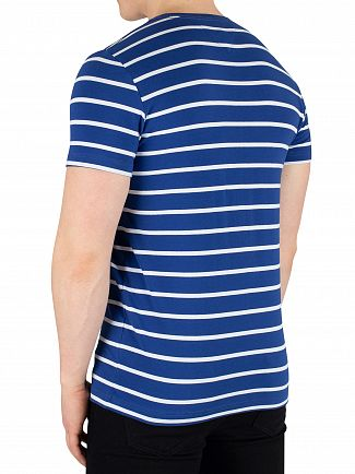 Tommy Hilfiger Blue Quartz Bright White Stretch Slim Fit T-Shirt