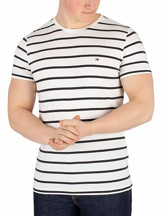Tommy Hilfiger Bright White/Jet Black Stretch Slim Fit T-Shirt