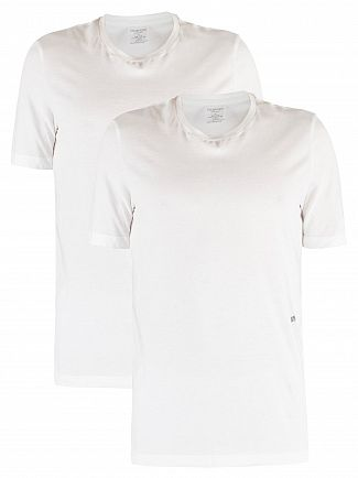 Calvin Klein White 2 Pack Crew Neck T-Shirt
