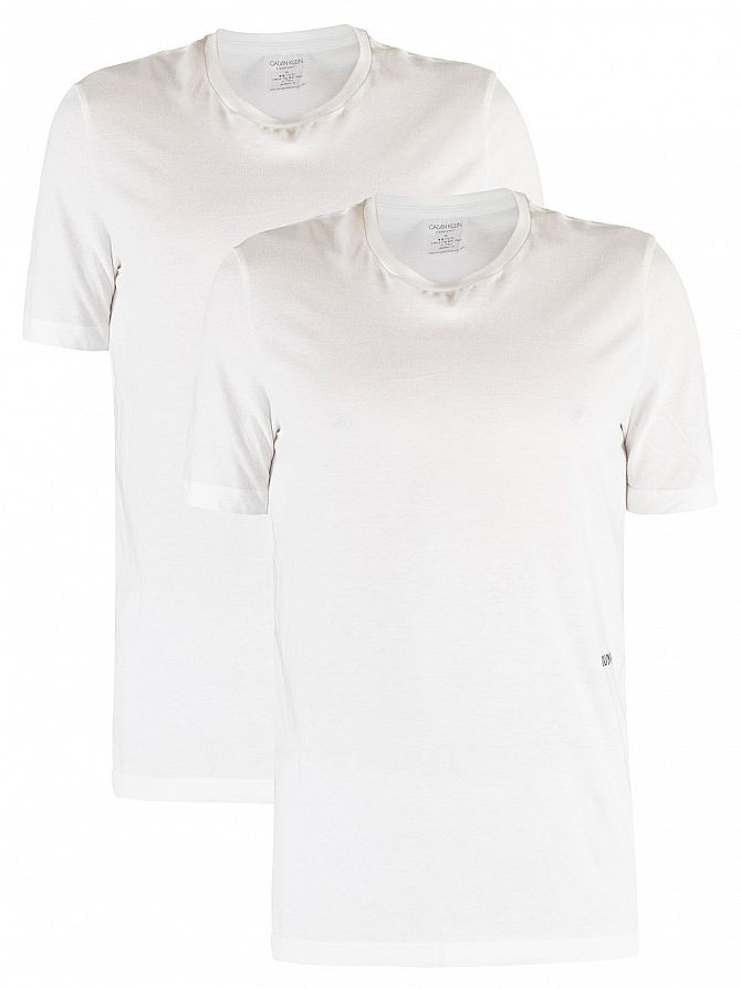 Calvin Klein White 2 Pack Crew Neck T-Shirt