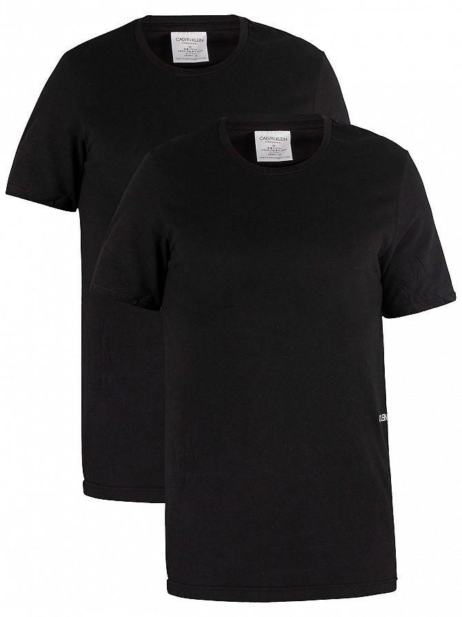 Calvin Klein Black 2 Pack Crew Neck T-Shirt