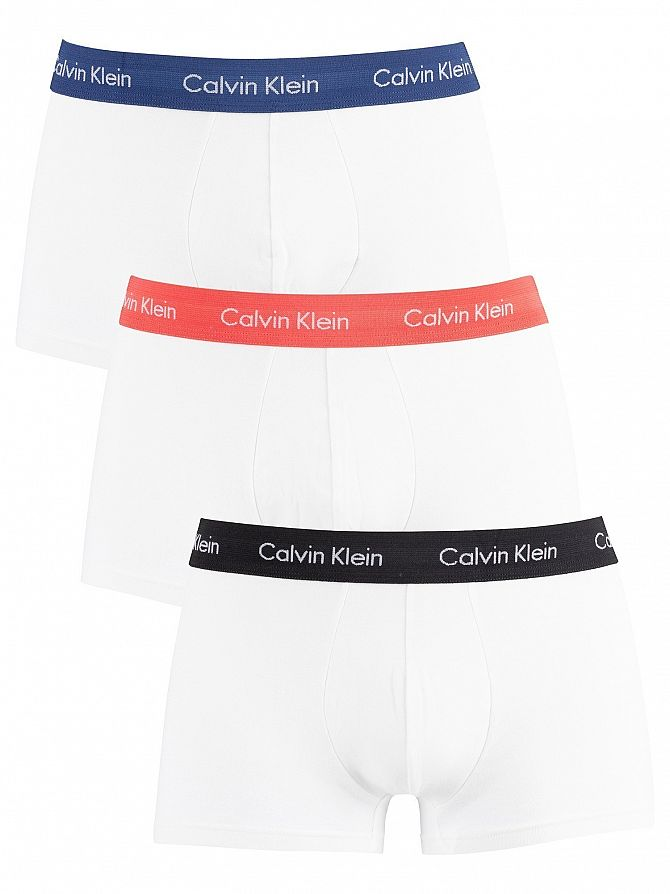 Calvin Klein Black/Cayenne/Airforce Low Rise Trunks