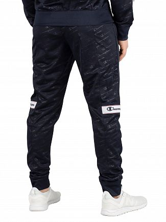 Champion Navy All Over Logo Joggers