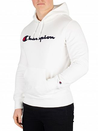 Champion White Graphic Pullover Hoodie