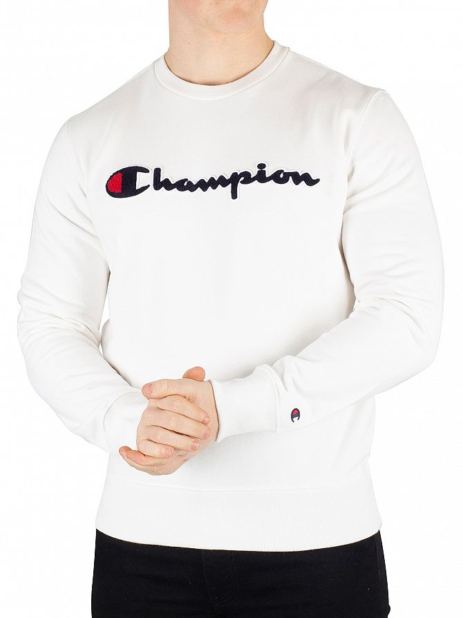 Champion White Graphic Sweatshirt