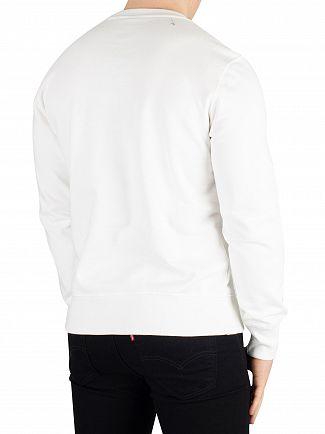 Champion White Graphic Sweatshirt