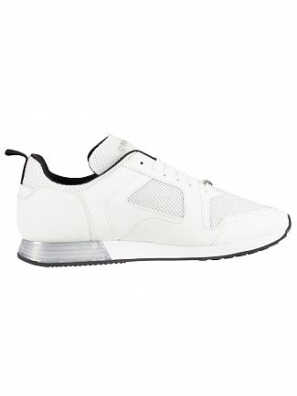 Cruyff White/Silver Lusso Leather Trainers