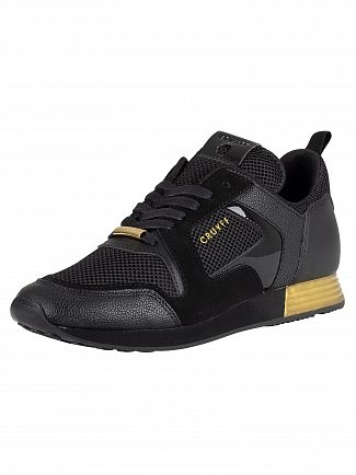 Cruyff Black/Gold Lusso Suede Trainers