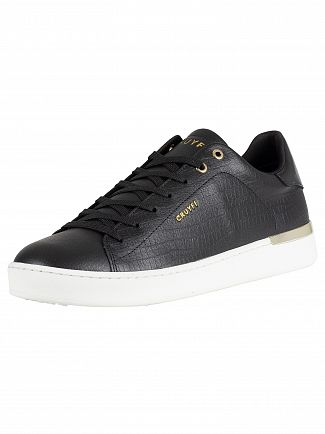 Cruyff Black Patio Leather Trainers