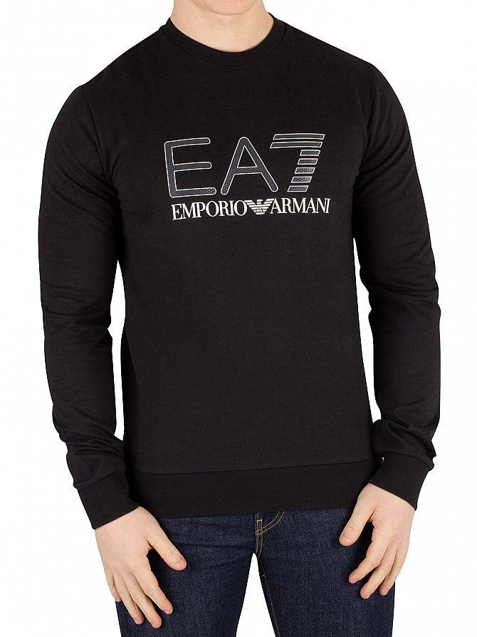 EA7 Black Graphic Sweatshirt