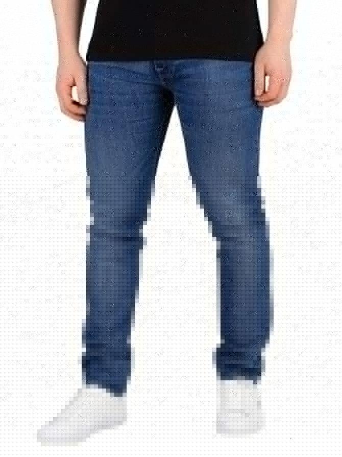 Edwin Brazton Blue Denim ED-85 Slim Tapered Drop Crotch Jeans