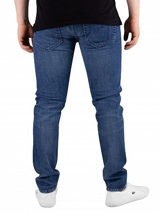 Edwin Brazton Blue Denim ED-85 Slim Tapered Drop Crotch Jeans